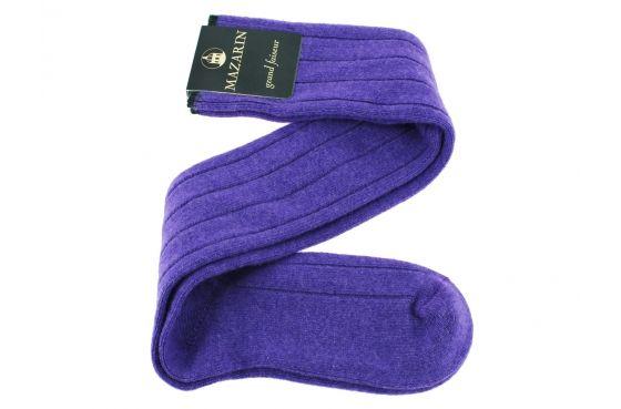Purple cashmere socks