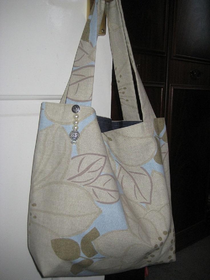 Handmade Cotton Fabric Tote Bag With Bead Charm. £9.50, via Etsy.