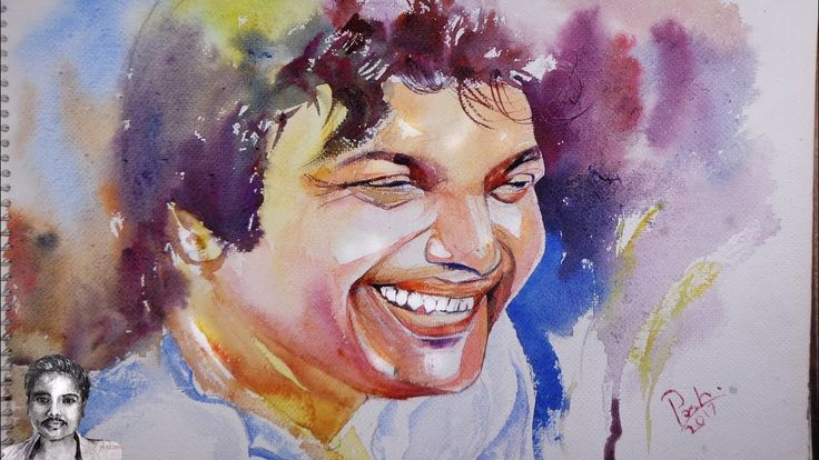 How to Draw Watercolor Portrait Drawing - Uttam Kumar