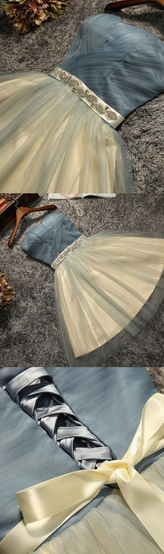Mini Prom Homecoming Dress Short Light Blue Dresses With Lace Up Bowknot Strapless Fancy Prom Dresse M1639 #homecomingdressesshort