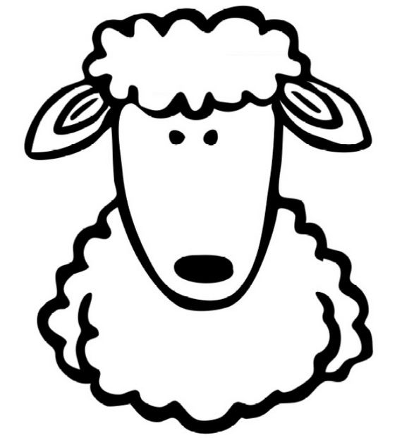 Eid al-Adha - Islam Coloring__ Pages__16. We can glue cotton to the sheep