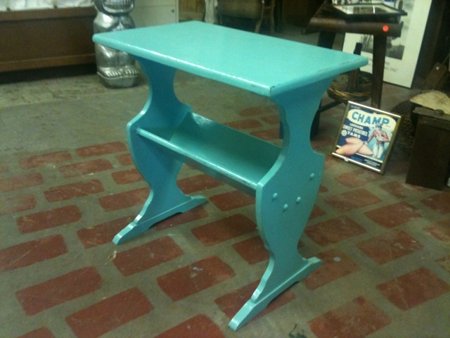 This is an awesome turquoise piece of furniture that we ended up painting and redoing!!! Come by and check out all our new items and vintage pieces!! Hattie's House in Downtown Muskogee!