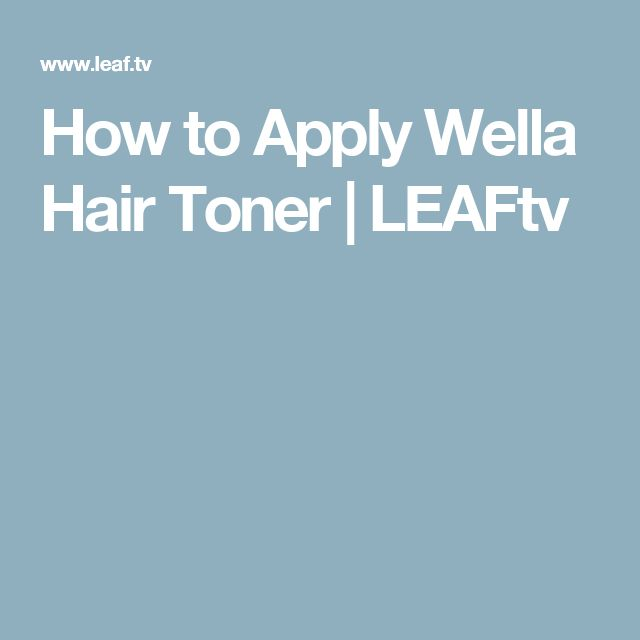 How to Apply Wella Hair Toner   LEAFtv