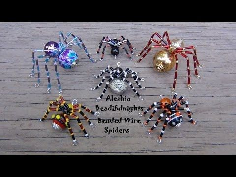 Beaded Wire Spider Tutorial - YouTube