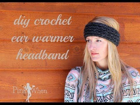 DIY: Crochet Ear Warmer Headband - Under an Hour - with Loom Knitting Video Tutorial - YouTube