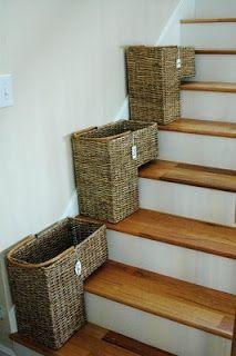 nannygoat: Stair Baskets