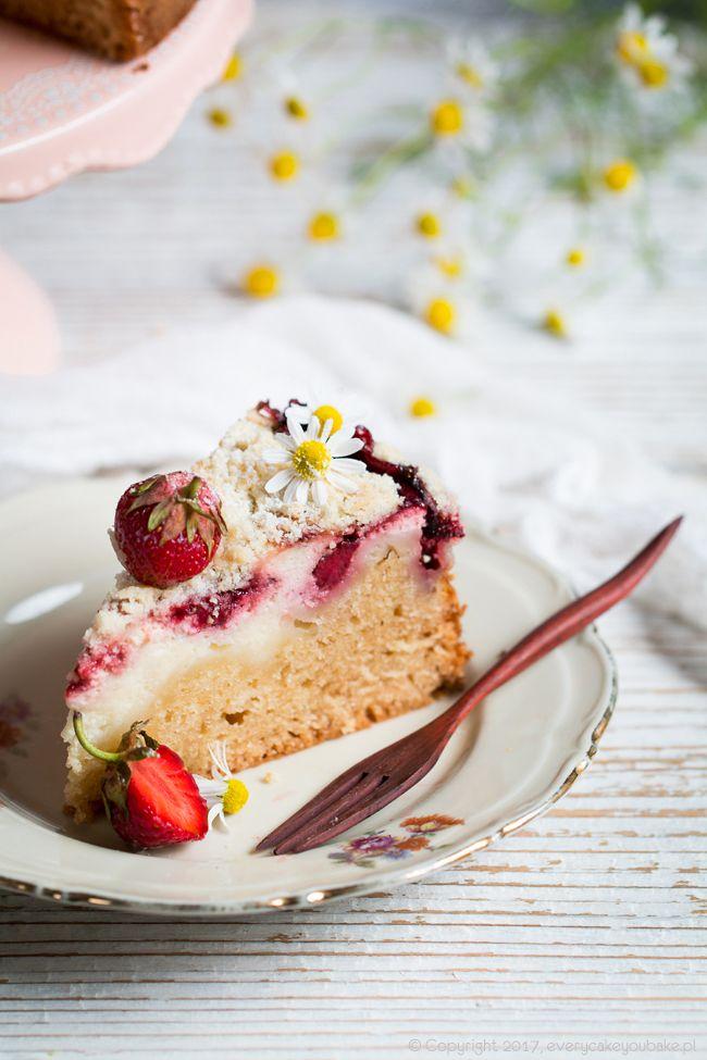 Ciasto truskawkowo-serowe, strawberry and cheese cake #truskawki #strawberry #cake #ciasto