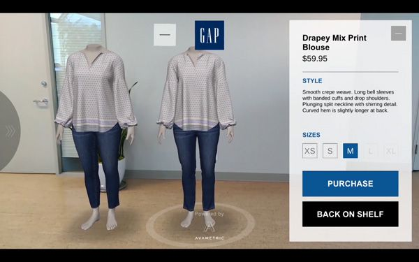 Gap tests new virtual dressing room app - Retail Focus - Retail Blog For Interior Design and Visual Merchandising