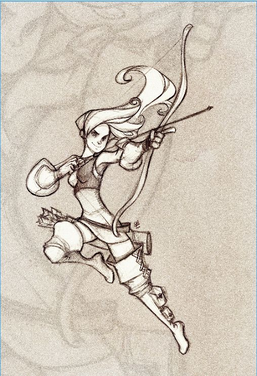 Evelynn: The Archer. by ~JacintaMaree on deviantART . Character Sketch / Drawing