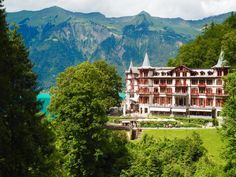 CHECKING IN AT THE GRAND HOTEL GIESSBACH, SWITZERLAND