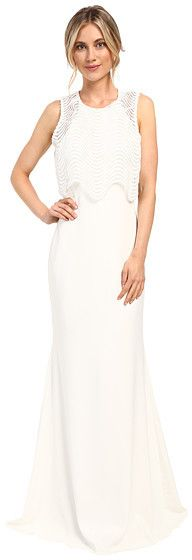Badgley Mischka Wave Lace Popover Gown at 6pm #affiliatelink