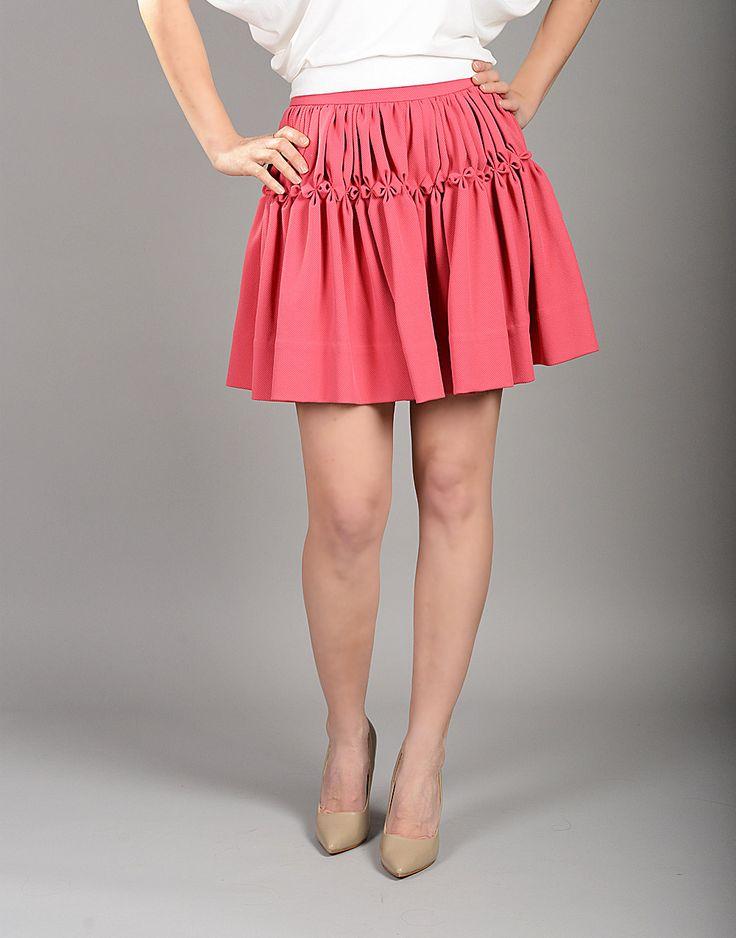 Mini skirts loose Pleated Skirt Retro Skirt Pink Skirt A Line Skirt Etsy Retro Skirt A Line Skirts Plus Size Mini Skirts