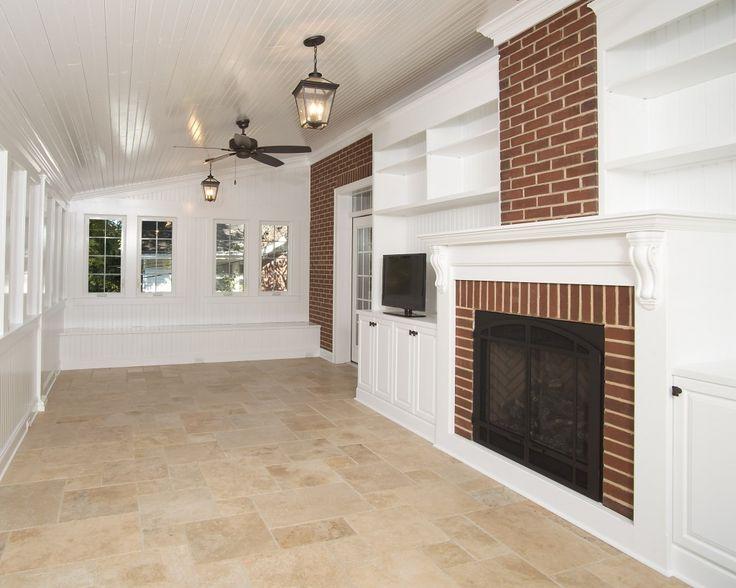 25 best natural stone look porcelain tile images on Travertine kitchen floor ideas