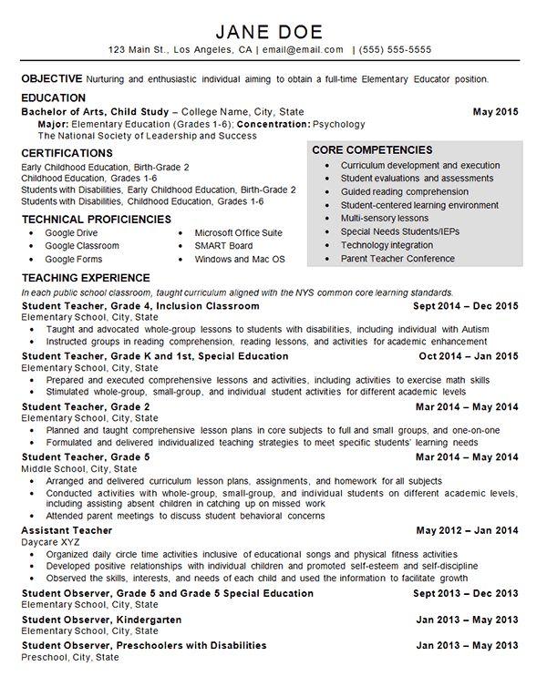 child care teacher resume example child development resume