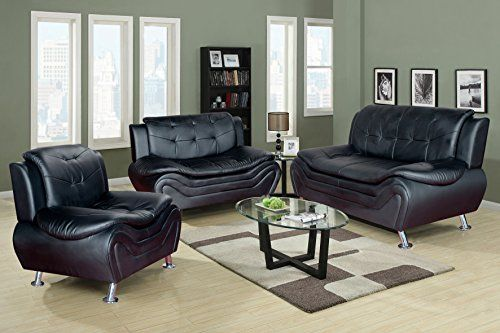 3 Piece Black Leather Living Room Set How To Design A Small Golden Coast Furniture White Ceccina Modern Multiple Colors