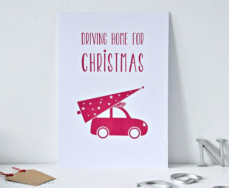 missredfox christmas print driving home for christmas. Black Bedroom Furniture Sets. Home Design Ideas