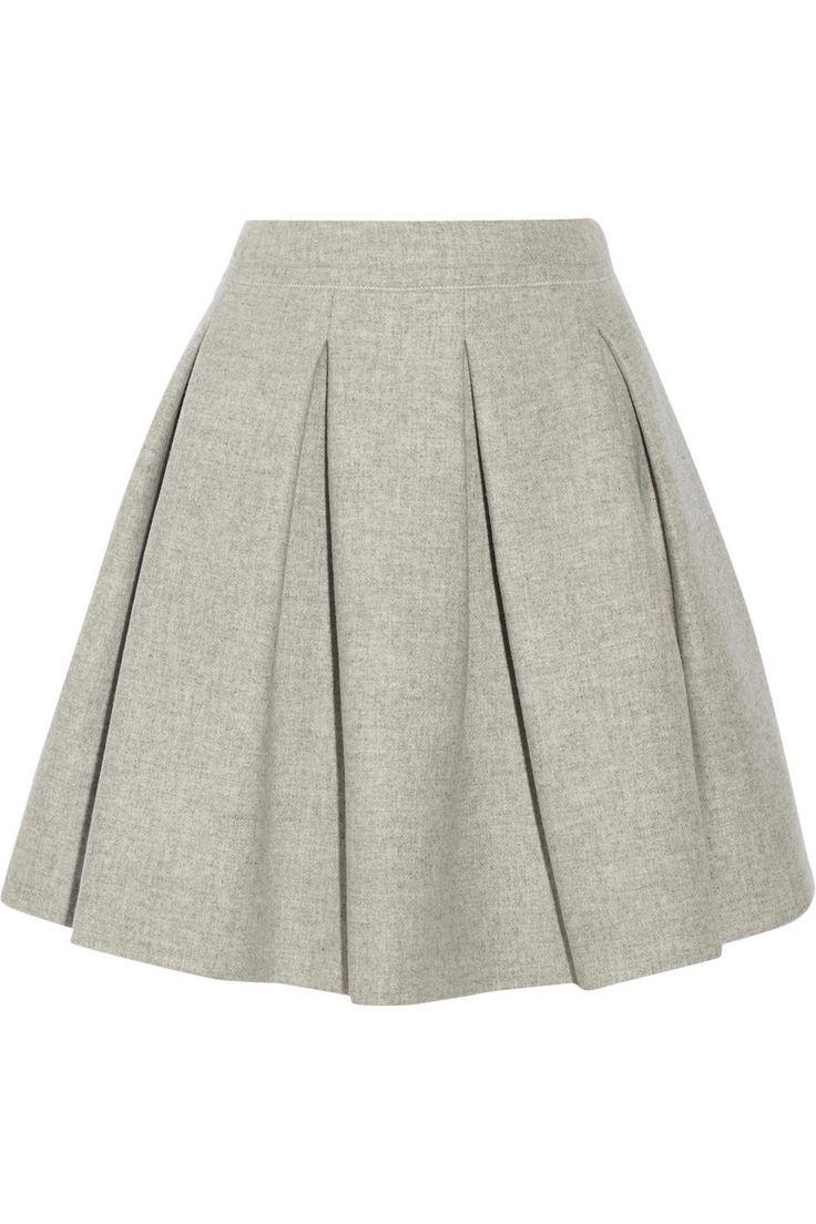 Miu Miu|Pleated wool mini skirt|NET-A-PORTER.COM