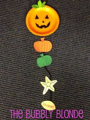 Life Cycle of a Pumpkin art project for kids around halloween and fall time