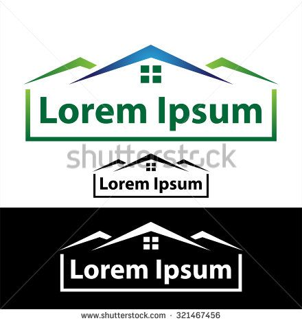 Icon for real estate, construction and insurance business