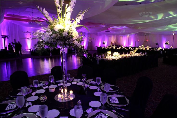 Gallery | Lake Receptions  Damask, black, white and purple wedding  for Mobella Events inspiration board  www.mobellaevents.com
