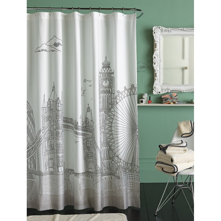 blissliving home london shower curtain shared jack and jill shower at college