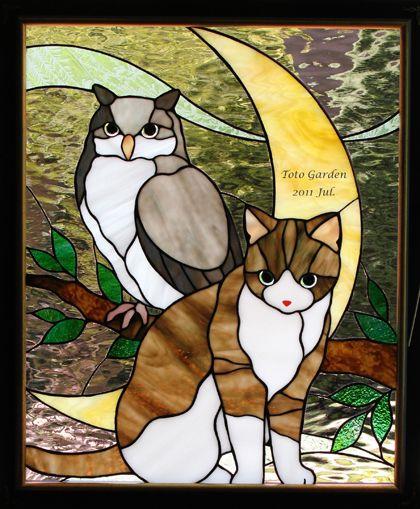 過去の作品紹介 7 - ガラスの森の猫たち