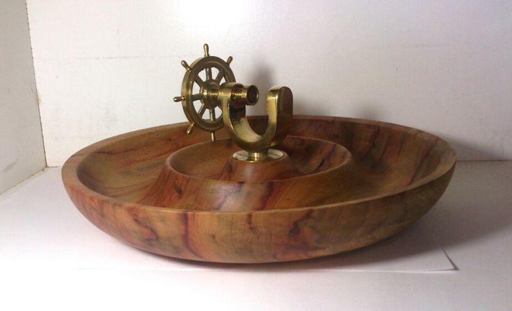 Ships wheel nutcracker bowl