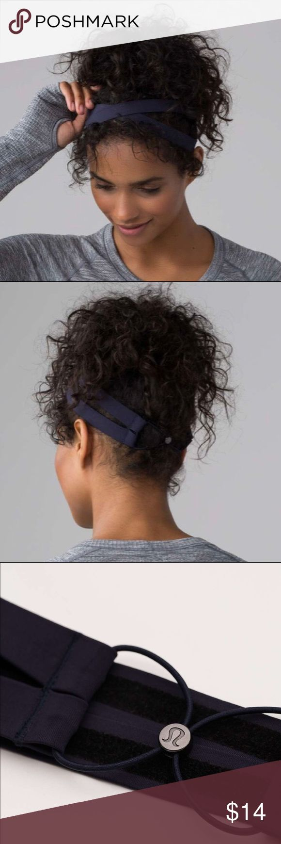 LULU LEMON NWT Navy Cross Sweat Headband BRAND NEW LULU LEMON Cross Sweat Headband in Navy. In Perfect/Brand new condition, never worn or even tried on. Very stretchy and cute! (Was a gift and I have the same one in a different color) lululemon athletica Accessories