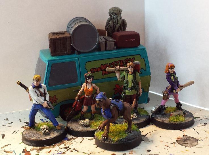 Zombie Apocalypse Scooby Doo Gang Scooby Doo Miniatures