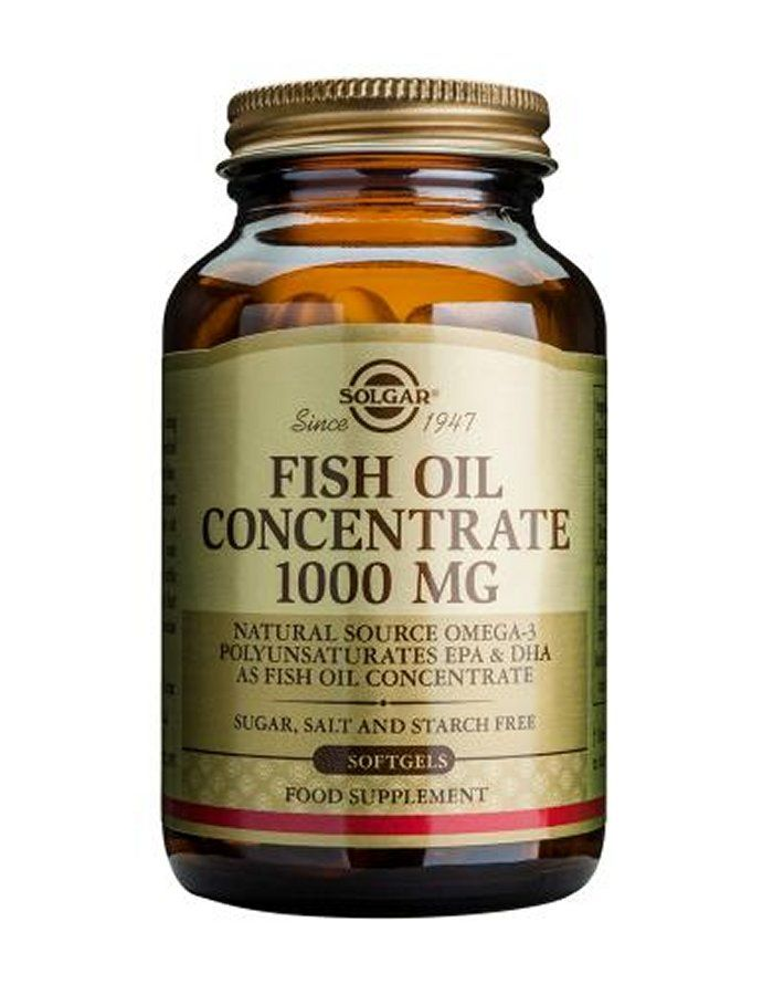 Solgar Fish Oil Concentrate 1000mg X 60 EPA Eicosapentaenoic acid and DHA Docosahexaenoic acid are omega3 longchain polyunsaturated essential fatty acids found in coldwater fish such as salmon, herring, mackerel and sardines. Solgars awardw http://www.MightGet.com/january-2017-11/solgar-fish-oil-concentrate-1000mg-x-60.asp
