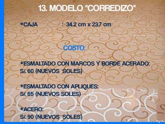 "GABINETE PARA BAÑO 13. MODELO ""CORREDIZO"""