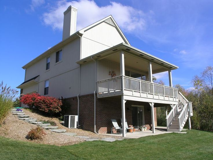 1000 images about add on upstairs porches on pinterest for Two story deck design pictures