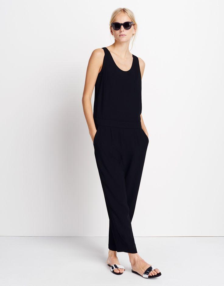 17 best ideas about jumpsuit schwarz on pinterest. Black Bedroom Furniture Sets. Home Design Ideas