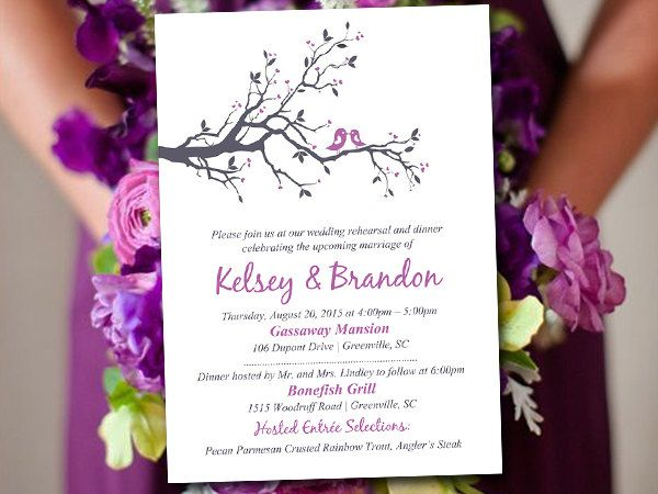 2612 best Rehearsal Dinner Invitations images on Pinterest Texts - dinner invitation template