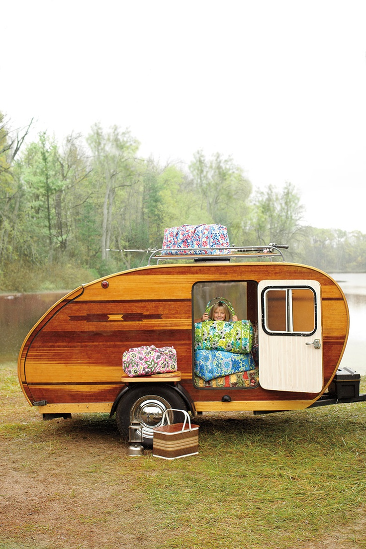Posted in retro vintage tagged classic cars teardrop caravan vintage - Wood Camper Pod From The Vera Bradley Catalogue Let S Travel Across The Country With This