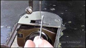 Швейная машина Подольская. Обрыв верхней нити в швейной машинке.Ч.1.Видео №72. - YouTube