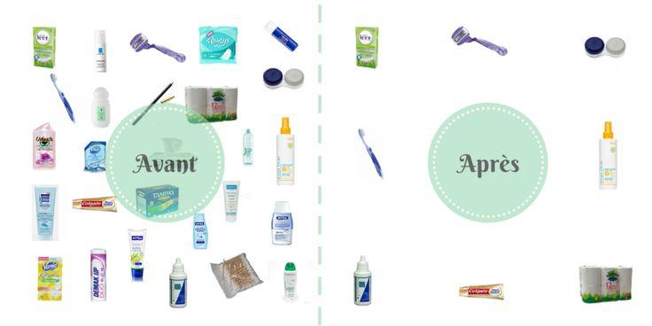 Salle de bains zéro déchet- avant-après - Like Bea Johnson, reduce your waste !