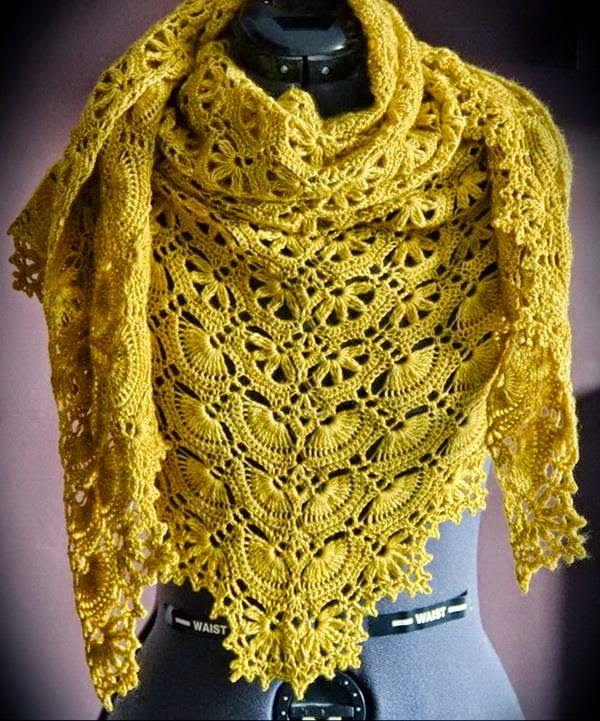 The 274 Best Shawls Images On Pinterest Crochet Shawl Crochet