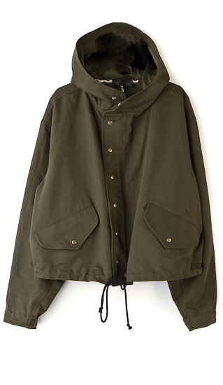 Cropped military style