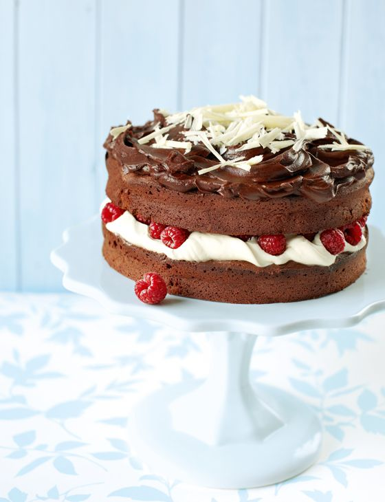 Double chocolate cake. Easter and chocolate go hand in hand, and this cake is a terrific recipe to bake for it.