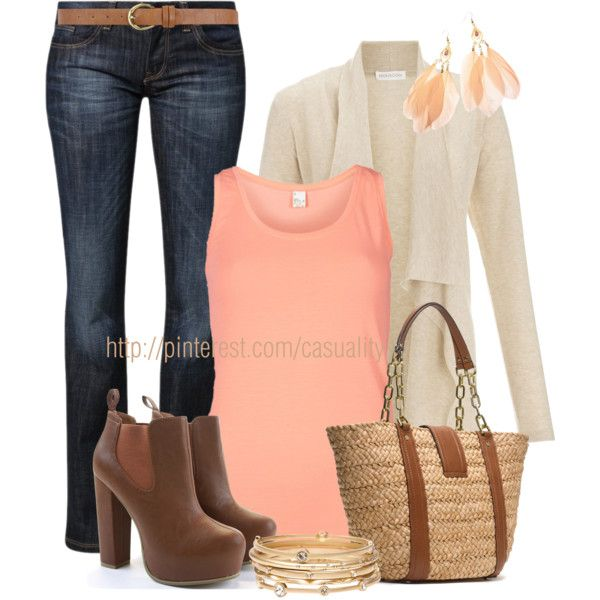 Bootcut Jeans & MK Tote - Polyvore - LOOK WHAT'S HOTTER THAN VICTORIA'S SECRET! TRY THIS LACY LINGERIE ON FOR SIZE FOR JUST $6!  https://www.facebook.com/pages/Lingerie-Heels-and-Fashion-Girls-Best-Friends/434737836588941?ref=hl