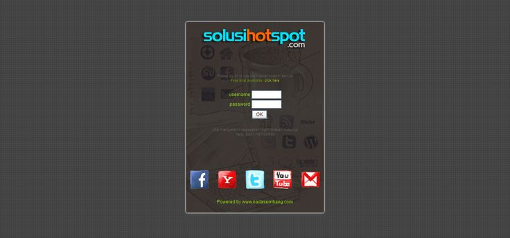 Free Mikrotik Hotspot Template. Available on HTMl and PSD files that customizable easily.