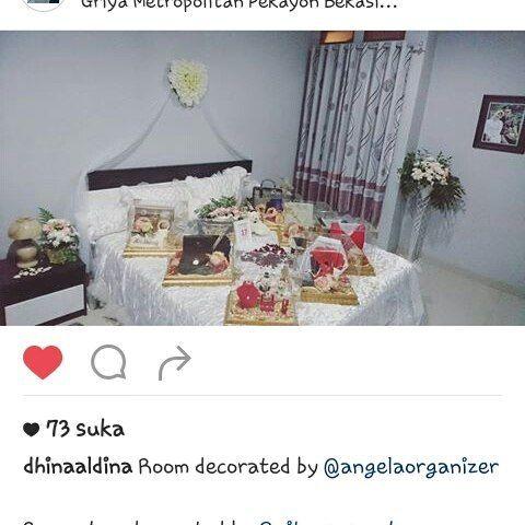 Thx utk dhina udh sewa dekorasi kamar pengantin kepada kami.  Smoga pernikahannya bahagia selalu.