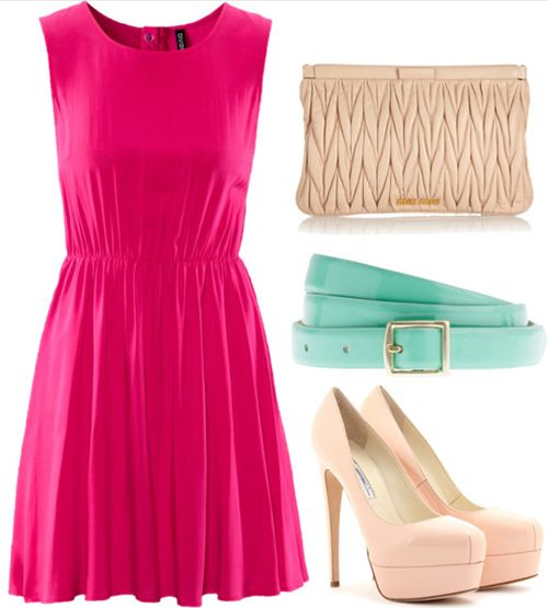 Valentine's Day Outfit - Pink Dress atuendo san valentin!