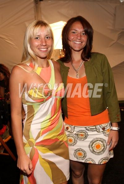 Tennis players Alyona Bondarenko and...