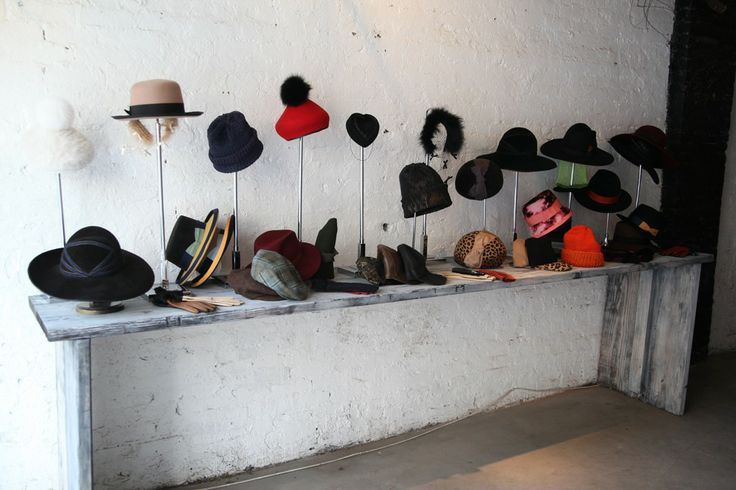 Yestadt Millinery: Designer Molly Yestadt showed a charming collection of fedoras, knit hats and baseball caps, often bedecked with bows and fur YESTADT hat