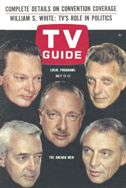 TV Guide, July 11, 1964 - The Anchor Men - David Brinkley, Chet Huntley, Walter Cronkite, Edward Morgan, Ron Cochran