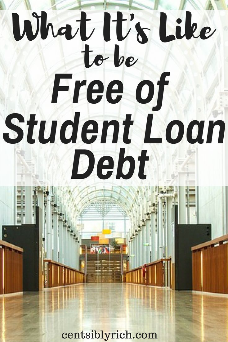 free of student loan debt