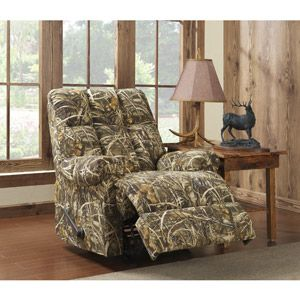 Dorel Living Realtree Camouflage Rocker Recliner Caves Front Rooms And Furniture