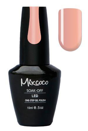 Mixcoco One-Step Gellak # 01 Mademoiselle - verkrijgbaar viawww.beautymilleni...- prachtige poeder beige kleur! Mixcoco One Step Gellak vereist geen base of top coat! Een prachtige#gelmanicurebinnen 5 minuten! Zeer geschikt voor beginners! 2 weken prachtig gelakte#nagels! Prijs: €16,95 |#nails#Mixcoco#gellak#gelnails#gelnagels#gelpolish#gellac#gellish#gelish#soakoff